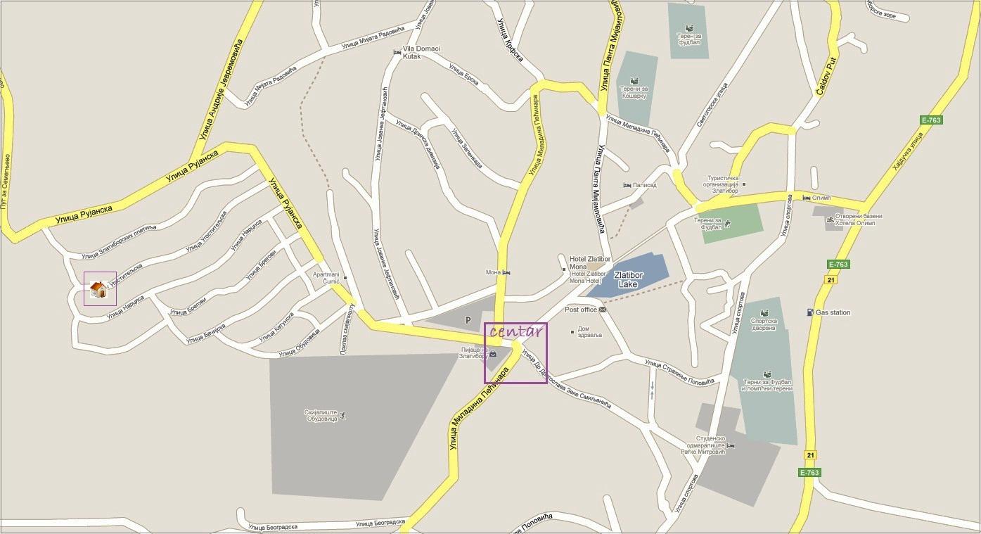 mapa zlatibora Apartmani Zlatan Bor mapa zlatibora
